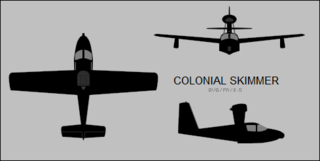 Colonial Skimmer amphibian flying boat by Colonial Aircraft
