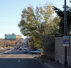 Colorado State Highway 2 - State Highway 2 looking south from just north of Ellsworth Avenue in Denver