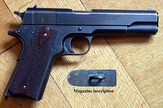 .455 Webley - Image: Colt 1911 Cal. 455