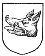 Fig. 357.—Boar's head couped (Scottish).