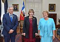 Con honores de la guardia de Palacio fue recibida Vesna Pusic, Viceprimer Ministra de Croacia, que llegó esta tarde al Palacio de La Moneda para reunirse con la Presidenta de la República, Michelle Bachelet (16458510777).jpg