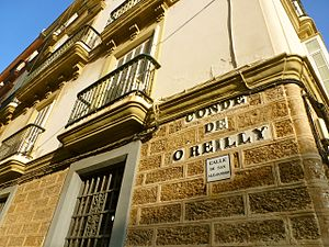 Alejandro O'Reilly - Street in Cadiz, Spain, which honours the memory of Marshal Alejandro, Conde de O'Reilly (1722, Dublin, Ireland - March 23, 1794, Bonete, Spain)