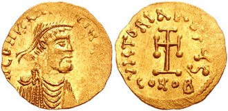 Arab–Byzantine wars - Gold tremissis of Constans II.