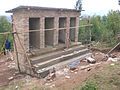 Construction of a Urine Diversion Dehydration Toilet (UDDT) at Muyogoro Primary School, Rwanda (2707195617).jpg