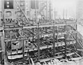 Construction of the first 4 floors at the Smith Tower construction site, Seattle, Washington, October 19, 1912 (SEATTLE 4893).jpg