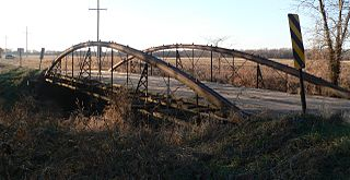 County Line Bowstring bridge in United States of America