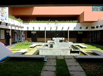 Auroville - Courtyard of the Tibetan Centre, Auroville