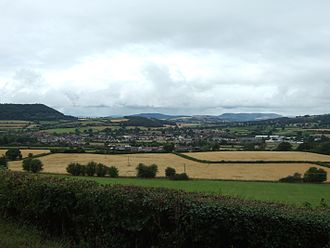 Craven Arms - The entire town as viewed from the east.