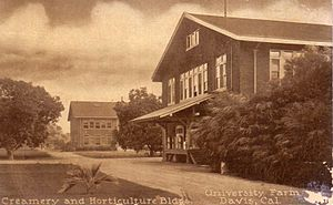 University of California, Davis - Early creamery and horticulture buildings, University Farm