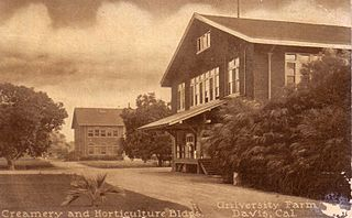 Early creamery and horticulture buildings, University Farm