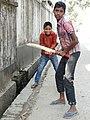 Cricket Fans on a Backstreet - Sylhet - Bangladesh (13007991915).jpg