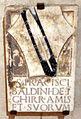 Cripta di san lorenzo (salone donatello), stemma baldini.JPG