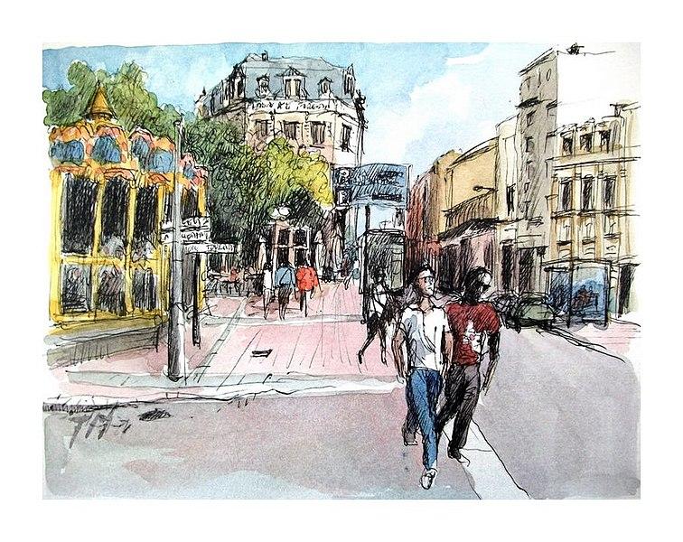 File:Croquis- Bourges - France (9218246666).jpg