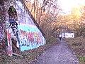 Crouch End Hill Bridge Graffiti - geograph.org.uk - 1621457.jpg