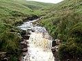 Crowden Little Brook Waterfall - geograph.org.uk - 469219.jpg