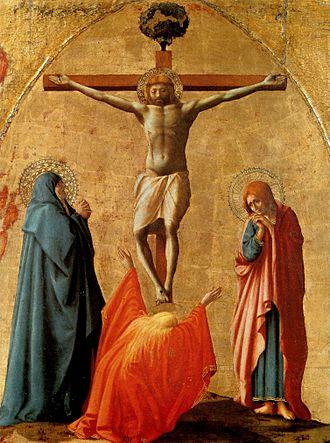 Pisa Altarpiece - Image: Crucifix Masaccio
