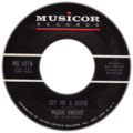 Cry Me a River by Marie Knight US single side-A catalog number on left.tif