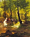 Cserépy Crossing the stream 1901.jpg