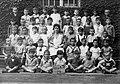 Cukor utcai elemi Iskola, csoportkép egy elsős osztályról. Fortepan 5485.jpg