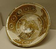 Luster-ware bowl from Susa, 9th century, today in the Louvre.