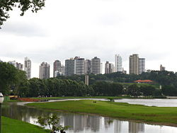 Curitiba from Barigüi Park