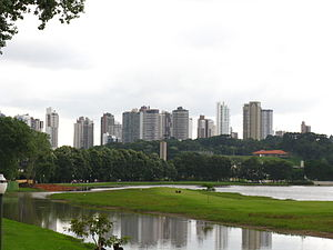 Landmarks in Curitiba - Curitiba From Barigui Park