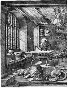 Der heilige Hieronymus im Gehäus, Kupferstich (1514) (Quelle: Wikimedia)
