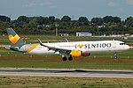 D-ATCD Airbus A321-200 Condor Flugdienst I Love Sentido DUS 2018-09-01 (3a) (43588181340).jpg