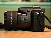 An example of a superzoom bridge camera, the Panasonic DMC-FZ30