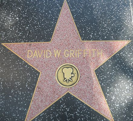 Griffith's Star on the Hollywood Walk of Fame at 6535 Hollywood Blvd. DW Griffith star HWF.JPG