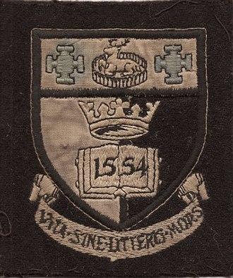 Derby School - Blazer Badge circa 1968. Used.