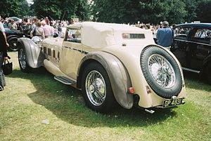 Lord Peter Wimsey - A Daimler double-six V12 50hp Corsica drophead coupé body designed by Reid Railton (1931)