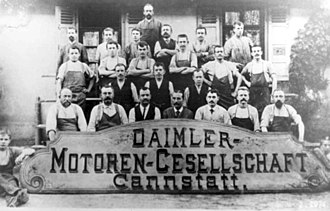 Daimler Motoren Gesellschaft - DMG employees in 1890