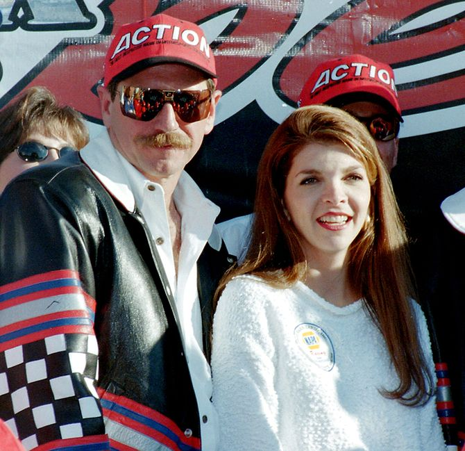 NASCAR champion Dale Earnhardt and his wife Te...