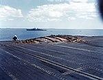 Damaged flight deck of USS Enterprise (CV-6) in August 1942.jpg
