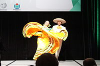 Dancing at the Wikimania 2015 Opening Ceremony IMG 7645.JPG