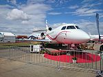 Dassault Falcon 7X (N163FJ) on display at the 2015 Australian International Airshow 2.jpg
