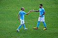 David Silva and Nicolas Otamendi Secret Handshake (36471165762).jpg