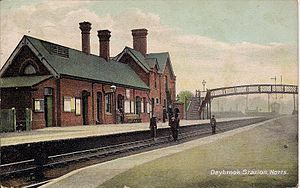 Arnold, Nottinghamshire - Postcard of Daybrook railway station, 1908