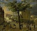 De Slijpsteenmarkt met het gebouw Het Zeerecht te Amsterdam Rijksmuseum Amsterdam SK-C-1545.jpg