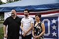 Dean DeBlois, Jay Baruchel and America Ferrara, Joint Base McGuire-Dix-Lakehurst 2014.jpg