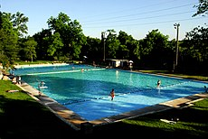 Deep Eddy Pool, built in 1915, is the oldest concrete swimming pool in Texas, United States