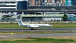 Deer Jet Gulfstream G550 B-8135 Taking off from Taipei Songshan Airport 20160924a.jpg