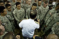 Defense.gov News Photo 110714-N-TT977-104 - Chairman of the Joint Chiefs of Staff Adm. Mike Mullen greets service members during an all hands call at U.S. Army Garrison Yongsan Seoul South.jpg