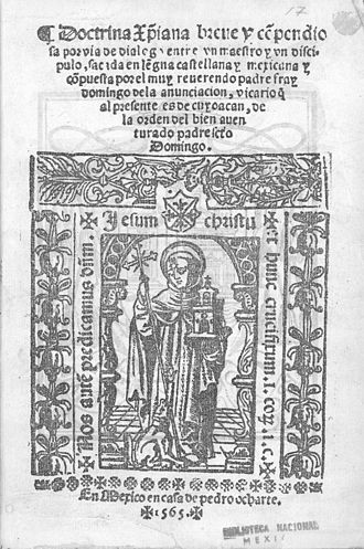 Domingo de la Anunciación - The title page of Domingo de la Anunciación's Doctrina cristiana.
