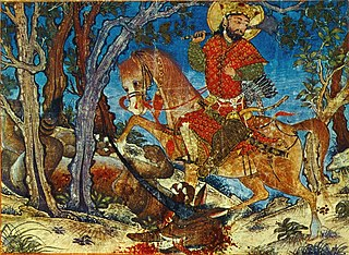 Great Mongol <i>Shahnameh</i> oldest surviving illustrated manuscript of the Shahnameh epic poem