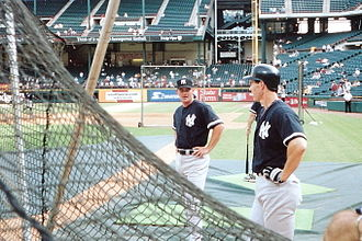 Paul O'Neill (baseball) - O'Neill (right) with Gary Denbo in 2001