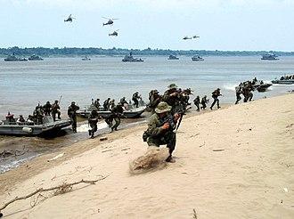 Brazilian Marine Corps - Amphibious operation in river.