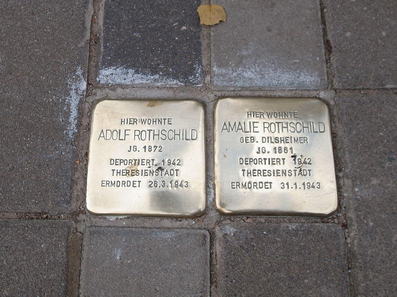 Dessau,Stolperstein Flössergasse,Rothschild.JPG