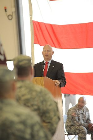Jack Markell - Markell speaks at a troops welcome home ceremony in 2015